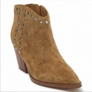 Marc Fisher Deni Suede Ankle Bootie